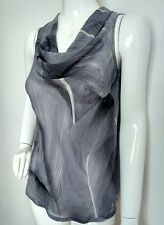 CHARLI London grey print chiffon blouse size S --BRAND NEW--
