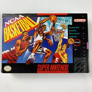 NCAA Basketball SNES Authentic Original Super Nintendo Box & Instructions Only