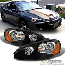 Black 2003-2005 Dodge Stratus Coupe Replacement Headlights Headlamps Left+Right