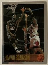 1996-97 Topps Chrome DAVID ROBINSON & MICHAEL JORDAN #80 Spurs Bulls HOF