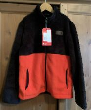 The North Face Boy's Size Med Sherparazo Jacket NWT Fiery red/Black NEW
