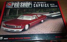 "AMT 1976 CHEVROLET CAPRICE & TRAILER 1/25 FS MODEL CAR MOUNTAIN FS ""PRO SHOP"""