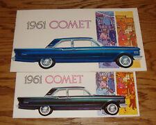 Original 1961 Mercury Comet Regular & Deluxe Sales Brochure Lot of 2 61