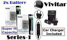 2300 mAh 2 Pcs EN-EL14a Li-Ion Battery for Nikon D5300 D3300 (With FREE Charger)