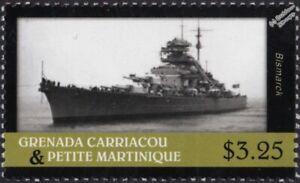 WWII BISMARCK German Navy (Kriegsmarine) Battleship Warship Ship Stamp (2013)