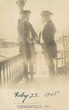 1908 Real Photo Postcard; Men in Colonial Costume Curwensville PA Clearfield Co
