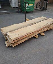 Kiln Dried European Oak Plank Slab Waney Edge