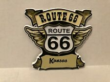 Kansas Route 66 Rubber Refrigerator Magnet NEW