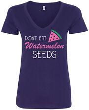 Don't Eat Watermelon Seeds Women's V-Neck T-Shirt Baby Shower Gift