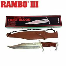 Rambo 3 First Blood Part III Hunting Knife With Leather Sheath
