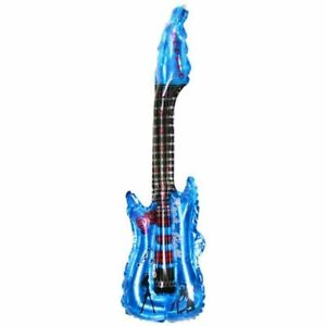 Inflatable Blow up Guitar Balloons Toy Musical Instruments For Kids Play Party