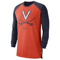Virginia Cavaliers Mens Nike Breathe DRI-FIT Shooter L/S T-Shirt - XL & Lg - NWT