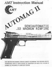 AMT Automag 2 II Pistol Owners Instruction and Maintenance Manual