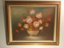 ROBERT COX STILL LIFE FLOWERS ORIGINAL OIL ON CANVAS 16 x 20 FRAMED & MATTED