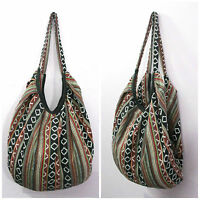 CANVAS DUFFLE BOHO HIPPY BEACH BANANA BAG HIPPIE HANDBAG SHOULDER FESTIVAL GYPSY