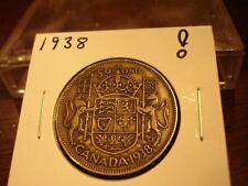 1938 - Canada half dollar - Silver - Canadian 50 cent