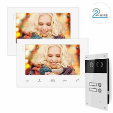2 Draht Video Türsprechanlage 2 Familienhaus 170° Kamera Bilderspeicher weiss
