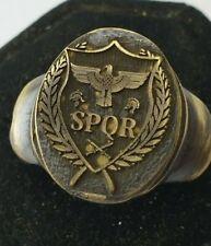 SPQR   Ancient Bronze Ring-Vintage-Antique ROMAN-RARE