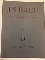 Französische Suiten von J. S.Bach herausgegeben von R. Steglich URTEXT