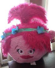 """Rare DreamWorks Trolls Poppy Face Gigantic Jumbo 30"""" Plush Pillow"""