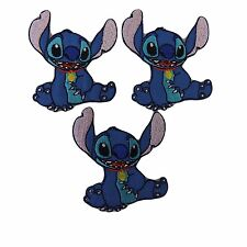 Lilo and Stich with Collar Figure Embroidered Patch Set of 3