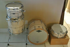 """2011 SIGNED JOHNNY CRAVIOTTO SOLID MAPLE DRUM SET 18"""" 12"""" 14"""" + MATCHING SNARE!"""