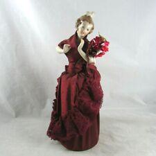 German Sitzendorf Reproduction Half Doll Porcelain Arms Away Jewelry Vintage 70s