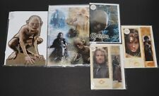 (5) Lord of the Rings Collectible Birthday Cards Gollum Aragorn Legolas Frodo