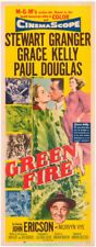 GREEN FIRE MOVIE POSTER Original  14x36 Inch INSERT Size 1954 GRACE KELLY
