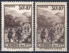 """FRANCE STAMP 347 """" AUBERGE PTT SPORTS LOISIRS VARIETE COULEUR """" NEUFxx LUXE P405"""