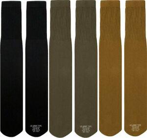 Mens Military Long Tube Socks Pair - Size 10 - 14, US Made