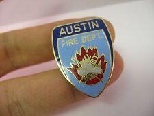 Lapel Hat Pin: AUSTIN FIRE DEPARTMENT Blue Enamel Badge Design