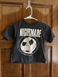 Boys Size 8  Nightmare Before Christmas Black Short Sleeve T-Shirt Jack