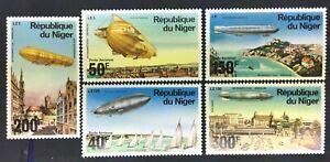 Niger C273-7 Zeppelin Set MNH OG 1976