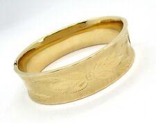 "14K Engraved Hinged Bracelet 25.1 grams 3/4"" wide  lot 33s2"