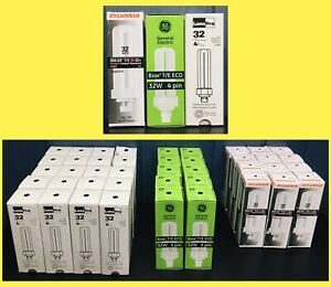 Huge 40 GX24q-3 32W 4 Pin Bulb Lot SYLVANIA 20886 DULUX T/E IN, G E biax T/E ECO