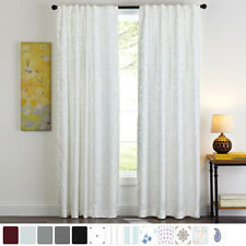 2 Panel Embroidery Curtains Blackout Indoor Thermal Window Panel Drapes,Colorful