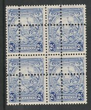 Barbados 3375 - 1938 Badge of Colony2.5d  DOUBLE PERFS Forgery