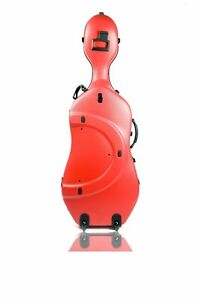 Authorized Bam Dealer Bam Cello Case Classic with Wheels -- Red