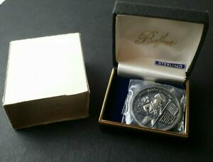 Balfour Apollo Commemorative Moon Landing Sterling Silver Medal in a Case