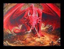 3d CUADRO CON DRAGÓN - dragones Lair - Anne Stokes Fantasy Impresión Lienzo