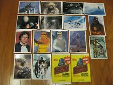Star Wars Empire Strikes Back Giant Photo Cards #2 Topps 15 Cards and 2 Wrappers