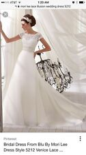 Size 16 wedding dress mori lee lace illusion wedding dress 5212
