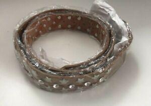 100% Leather Womens Stars Zircons Belt / Gold 95 cm Free P&P UK Seller