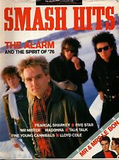 The Alarm on Smash Hits Magazine Cover 1986     Madonna    Simon & Yasmin Le Bon
