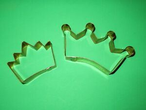 BRAMAN Heavy Copper Large Cookie Cutter princess king queen crowns set 2