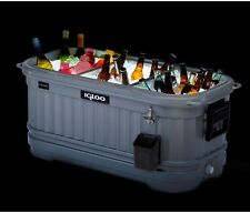 Party Cooler Bar Rolling 125 Qt Patio Outdoor Deck Chest Portable Illuminated