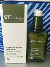 NIB ~ ORIGINS Dr Weil Mega Mushroom Skin Relief Advanced Face Serum 1.7oz/ 50 ml