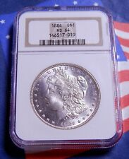 1884-P 1884 MORGAN SILVER DOLLAR $1 NGC MS 64 - FROSTY WHITE - FULL MINT LUSTER!