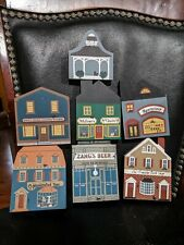 The Cats Meow Village Mixed Series Lot of 8 Wooden pieces